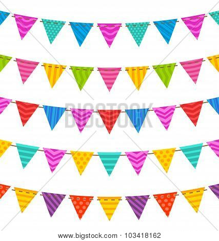 Group Hanging Bunting Party Flags