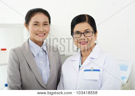 Scientist and business lady