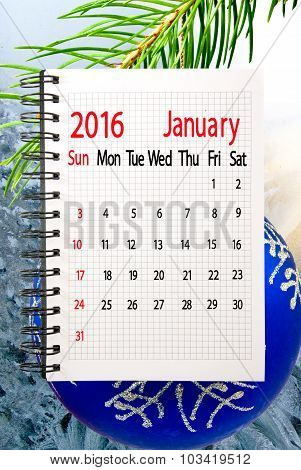 calendar for the month of January