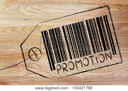 Promotion Code Bar On Product Price Tag
