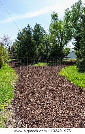 Garden Path With Bark Mulch