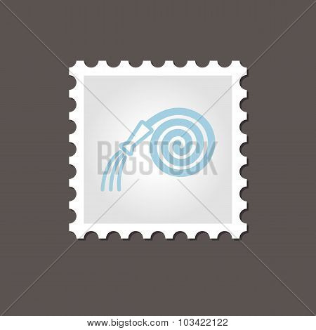 Garden Hose stamp. Outline vector illustration