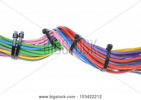 Multicolored electric cables