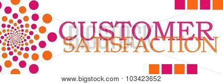 Customer Satisfaction Pink Orange Dots Horizontal