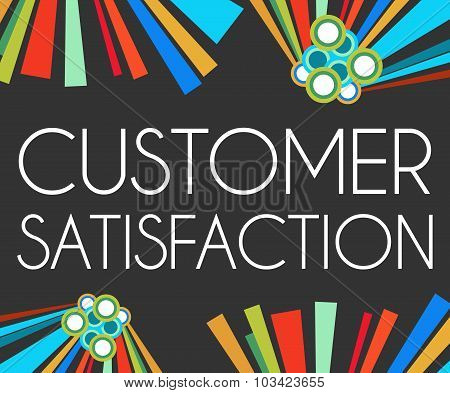 Customer Satisfaction Dark Colorful Elements