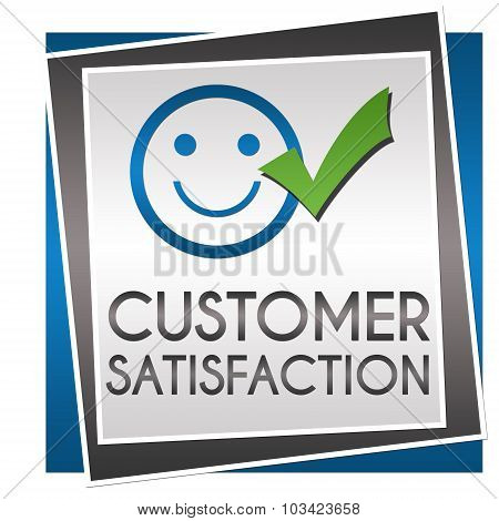 Customer Satisfaction Blue Grey Squares