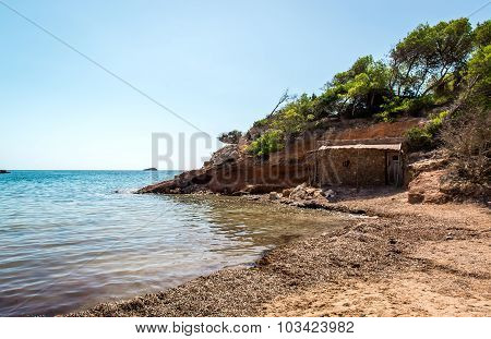 Nudist Beach. Ibiza. Balearic Islands, Spain