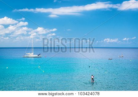 Blue Lagoon. Ibiza, Balearic Islands. Spain