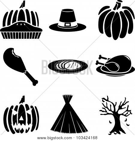 autumn symbols set