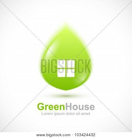 Leaf house icon