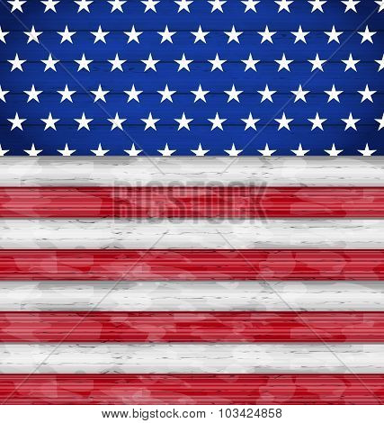 Wooden American Flag for Independence Day