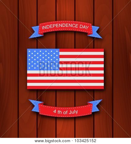 American Background with Flag
