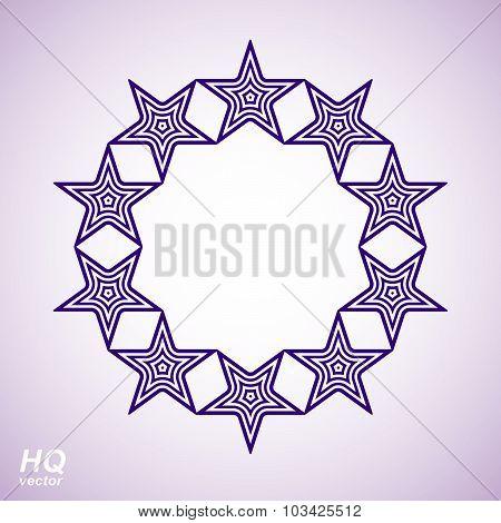 Vector union conceptual symbol. Festive design element with stars, decorative luxury template.
