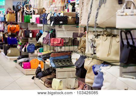handbags in the shop