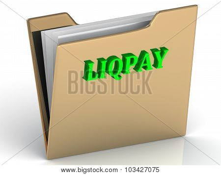 Liqpay - Bright Color Letters On A Gold Folder