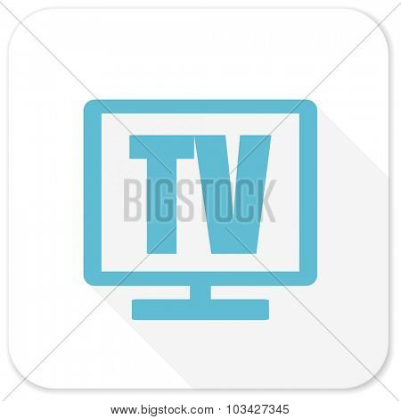 tv blue flat icon
