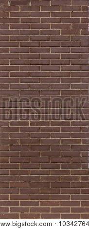 Brown Brick Wall. Brown Brick Walls. Uniform Brickwork.
