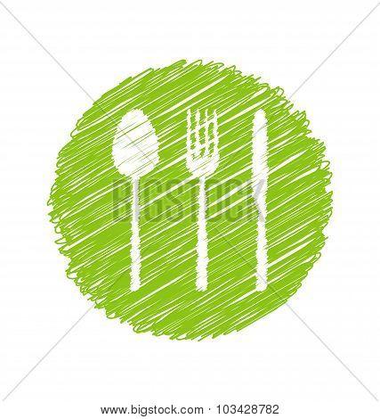 Green Vegetarian Restaurant Sign