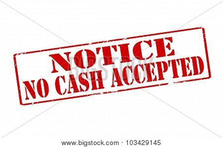 Notice No Cash Accepted