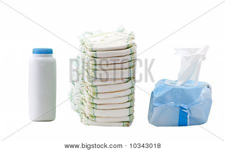 Diapers, Wipes, Powder