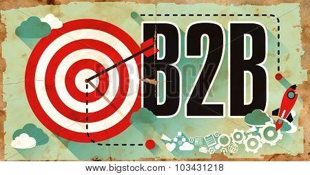 B2B on Grunge Poster.
