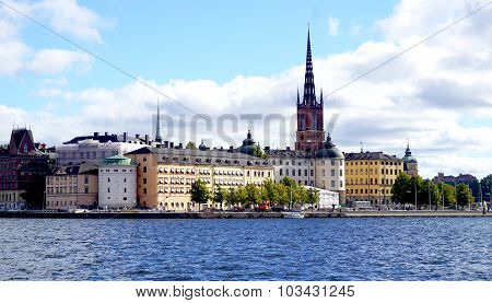 Landscape Of Stockholm Oldtown City