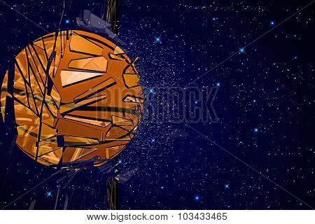 Basket Ball Breaking Glass