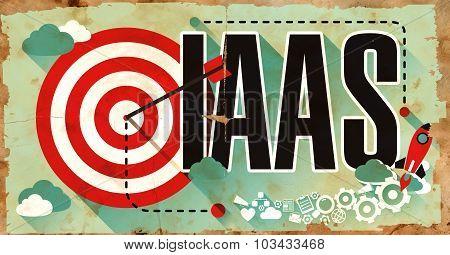 IAAS Concept. Poster in Flat Design.