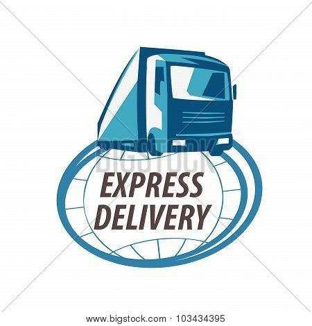 delivery vector logo design template. truck or shipping icon