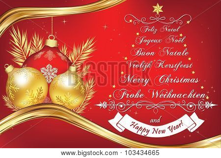 Christmas Wishes in many languages