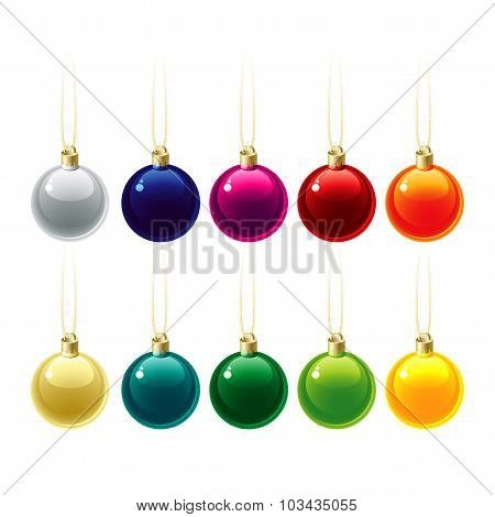 Set of Christmas decorations. Vector illustration