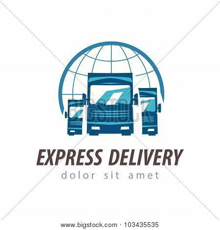 truck vector logo design template. shipping or delivery icon