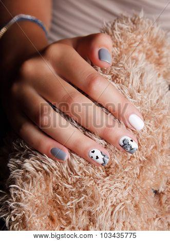 Closeup Of Cute Fashionable Nails