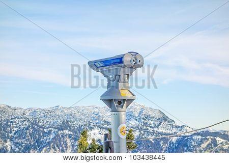 Binoculars At Lookout