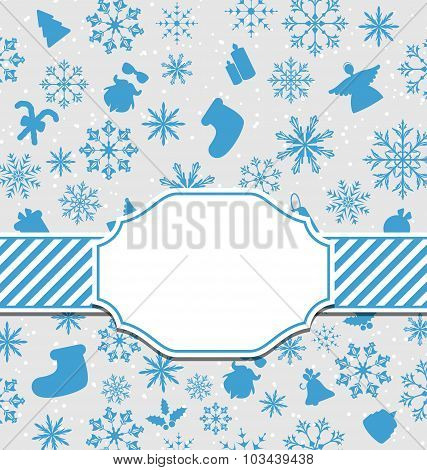 Christmas greeting card with copy space for your text