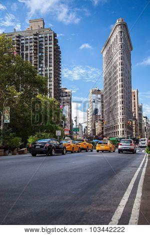 NEW YORK CITY, USA - CIRCA SEPTEMBER 2014: Flatiron Building in New York City