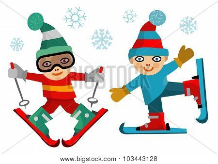 Children Skiers
