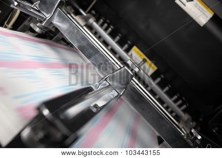 Printing Press In The Work
