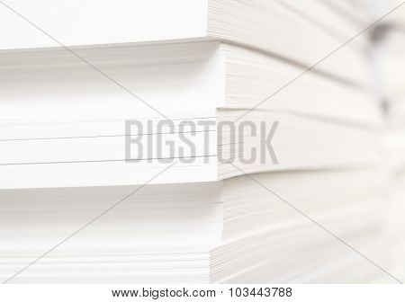 Stack Of Clean Sheets For Typographical Printing