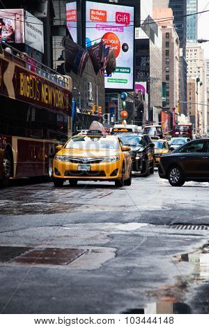 NEW YORK CITY, USA - CIRCA SEPTEMBER 2014: Streets of New York City
