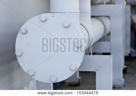 Potable water piping with flange, stud, bolt