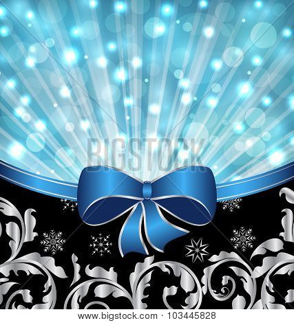 Christmas ornamental background, glowing design