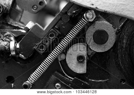 Metal Parts Of The Mechanism An Industrial Equipment