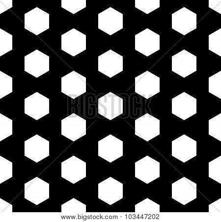 Vector modern seamless geometry pattern hexagon black and white
