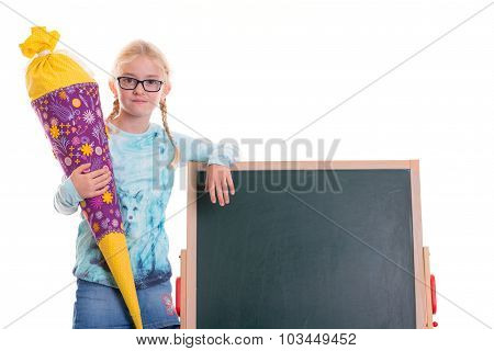 Girl On First Day At School