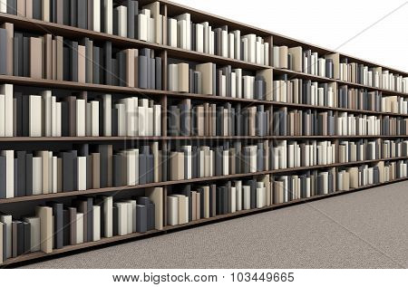 Library Bookshelf Aisle