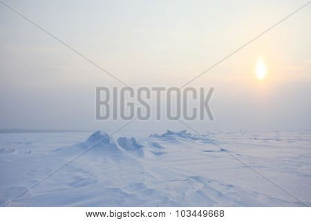 Ice snow desert