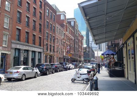 Front Street at Seaport District NYC