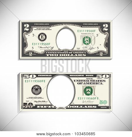 Stylized money looses face