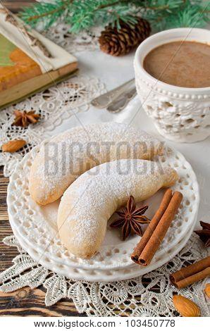 Christmas Homemade Sugar Cookies Crescent